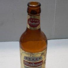 Coleccionismo de cervezas: BOTELLA CERVEZA MAHOU CINCO ESTRELLAS ETIQUETA PAPEL 33CL. Lote 227058350