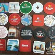 Coleccionismo de cervezas: LOTE DE 20 POSAVASOS DE CERVEZA, MAHOU, CRUZCAMPO, ESTRELLA DAMM, ESTRELLA GALICIA, ALHAMBRA... Lote 228352160