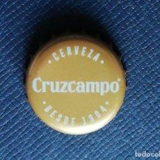 Coleccionismo de cervezas: CHAPA TAPÓN CORONA DE LA CERVEZA ESPAÑOLA CRUZCAMPO (SIN GLUTEN). VER DESCRIPCIÓN.. Lote 228440965