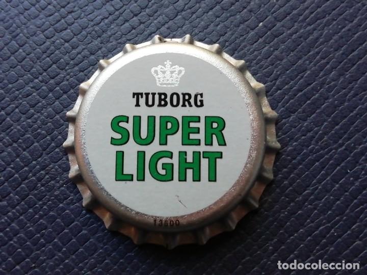 CHAPA TAPÓN CORONA NUEVO DE LA CERVEZA DE DINAMARCA TUBORG SUPER LIGHT. VER DESCRIPCIÓN. (Coleccionismo - Botellas y Bebidas - Cerveza )