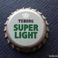 Collectionnisme de bières: CHAPA TAPÓN CORONA NUEVO DE LA CERVEZA DE DINAMARCA TUBORG SUPER LIGHT. VER DESCRIPCIÓN.. Lote 228497335