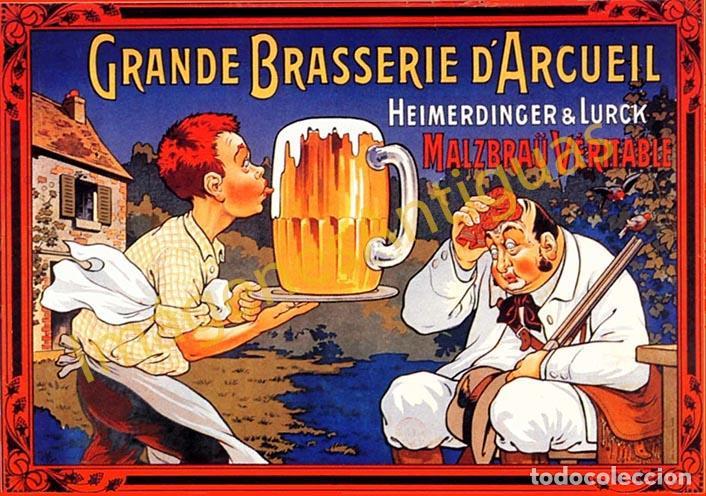 GRANDE BRASSERIE D´ARCUELL - CARTELES - IMAGENES - PUBLICIDAD - BEBIDAS - CERVEZAS (Coleccionismo - Botellas y Bebidas - Cerveza )