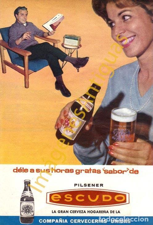 PILSENER ESCUDO COMPAÑIA CERVECERIAS UNIDAS - CARTELES - IMAGENES - PUBLICIDAD - BEBIDAS - CERVEZAS (Coleccionismo - Botellas y Bebidas - Cerveza )