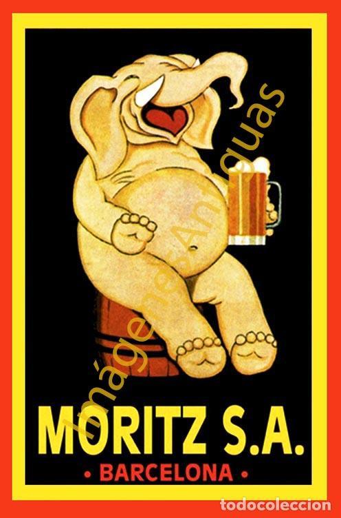 MORITZ S.A. BARCELONA - CARTELES - IMAGENES - PUBLICIDAD - BEBIDAS - CERVEZAS (Coleccionismo - Botellas y Bebidas - Cerveza )