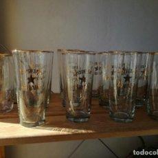 Coleccionismo de cervezas: LOTE VASOS ESTRELLA DORADA ANTIGUOS. Lote 229875095