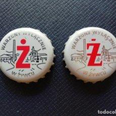 Collezionismo di birre: LOTE DE 2 CHAPAS TAPÓN CORONA DIFERENTES DE LA CERVEZA POLACA WARZONY WYLACZNIE. VER DESCRIPCIÓN.. Lote 230059785