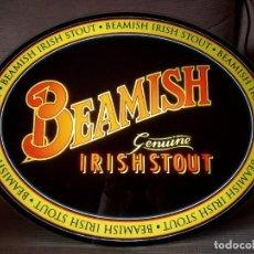 Coleccionismo de cervezas: CARTEL LUMINOSO CERVEZA BEAMISH -IRLANDA, CERVEZA NEGRA- GENUINE IRISH STOUT. Lote 231969090