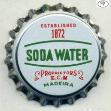 Coleccionismo de cervezas: CHAPA SODA WATER E.C.M. - MADERIA XAPA KRONKORKEN TAPPI BOTTLE CAP CAPSULE. Lote 231969850