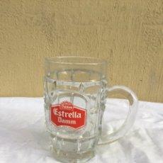 Coleccionismo de cervezas: JARRA DE CERVEZA ANTIGUA DE CRISTAL ESTRELLA DAMM - VER FOTOS. Lote 235073195