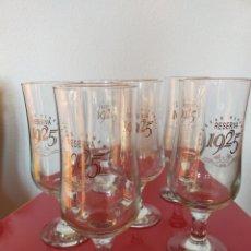 Coleccionismo de cervezas: 6 COPAS DE CERVEZA ALHAMBRA. Lote 235244950