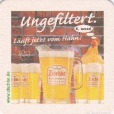 Coleccionismo de cervezas: POSABASOS DE LA CERVEZA ZISCHKE. Lote 235286730