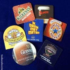 Coleccionismo de cervezas: POSAVASOS CERVEZAS - LOTE DE SIETE MARCAS DIFERENTES - EN CARTÓN DURO - NUEVOS. Lote 236001250