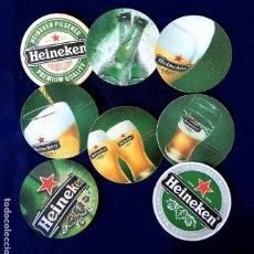 Coleccionismo de cervezas: POSAVASOS - COLECCIÓN DE LA CERVEZA HEINEKEN - LOTE DE OCHO DIFERENTES - EN CARTÓN DURO. Lote 236006610