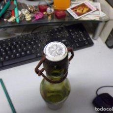 Coleccionismo de cervezas: ANTIQUISIMA BOTELLA DE CERVEZA DAMM TAPON CERAMICO CON ESTRELLA LOGOTIPO SERIGRAFIADA. Lote 236378210