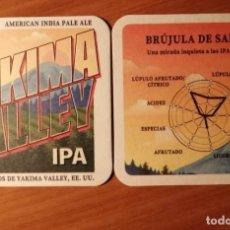 Coleccionismo de cervezas: POSAVASOS CERVEZA IPA YAKIMA VALLEY DE SAN MIGUEL. Lote 236484370