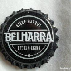 Coleccionismo de cervezas: CHAPA TAPÓN CORONA NUEVO DE LA CERVEZA ARTESANA FRANCESA BELHARRA. VER DESCRIPCIÓN.. Lote 236725815