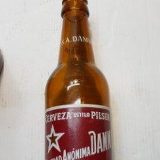 Coleccionismo de cervezas: BOTELLA CERVEZA SOCIEDAD ANONIMA DAMM CON S.A.DAMM EN CUELLO 33 CL. Lote 236783465