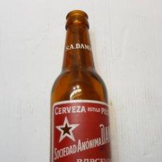 Coleccionismo de cervezas: BOTELLA CERVEZA SOCIEDAD ANONIMA DAMM CON S.A.DAMM EN CUELLO 33 CL. Lote 236788245