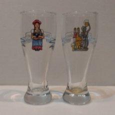 Coleccionismo de cervezas: PEQUEÑOS VASOS DE CERVEZA OKTOBERFEST EN MINIATURA - VER FOTOS. Lote 236826250