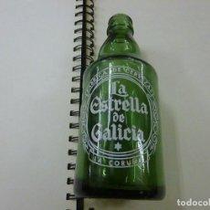Coleccionismo de cervezas: BOTELLA CERVEZA *LA ESTRELLA DE GALICIA* 33 CL. TIPO PILSEN, CRISTAL VERDE, SERIGRAFIADA, LA CORUÑA-. Lote 237644280