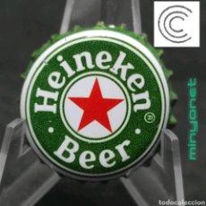 Coleccionismo de cervezas: CHAPA O TAPÓN CORONA DE CERVEZA HEINEKEN BEER. Lote 237650515