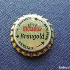 Coleccionismo de cervezas: CHAPA TAPÓN CORONA NUEVO DE LA CERVEZA SUIZA EICHHOF BRAUGOLD (DREHEN). VER DESCRIPCIÓN.. Lote 237942725