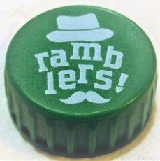 Coleccionismo de cervezas: TAPON ROSCA DDE CERVEZA RAMBLERS, ESPAÑOLA. Lote 254080275