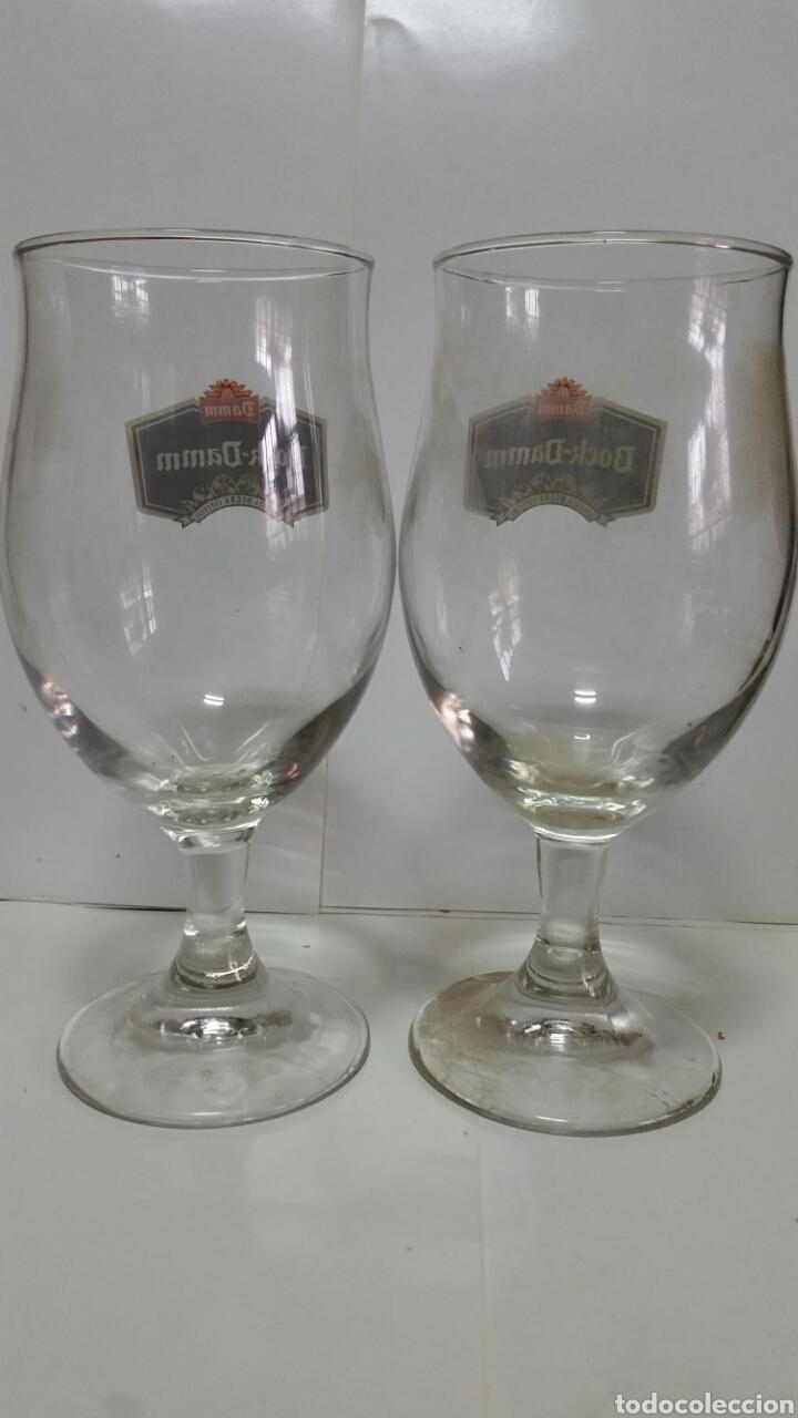 Coleccionismo de cervezas: DOS COPAS DE CERVEZA BOCK-DAMM.NUEVAS. - Foto 2 - 239569050