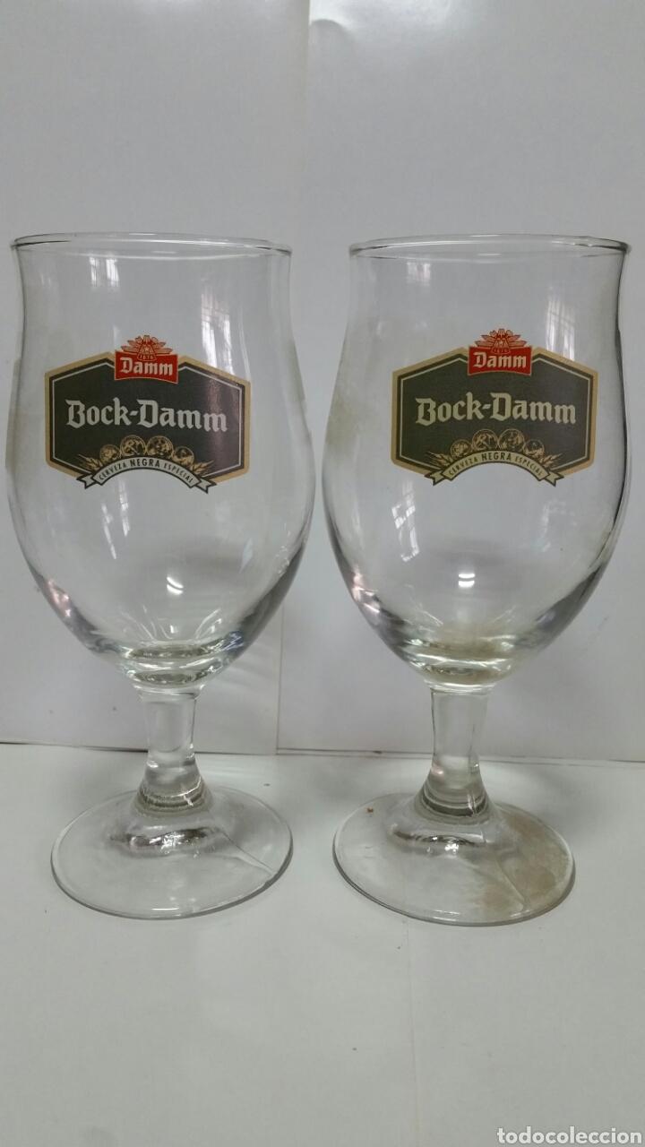 DOS COPAS DE CERVEZA BOCK-DAMM.NUEVAS. (Coleccionismo - Botellas y Bebidas - Cerveza )