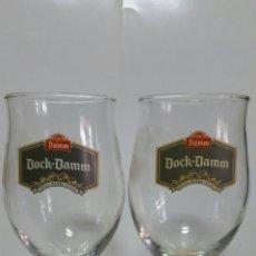 Coleccionismo de cervezas: DOS COPAS DE CERVEZA BOCK-DAMM.NUEVAS.. Lote 239569050