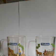 Coleccionismo de cervezas: DOS JARRAS DE CERVEZA MAHOU.AÑOS 90.NUEVAS.. Lote 239580730