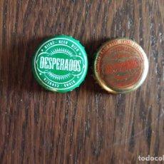 Coleccionismo de cervezas: LOTE DE 2 CHAPAS TAPÓN CORONA DE CERVEZA DESPERADOS.. Lote 241155475