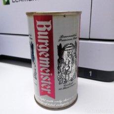 Coleccionismo de cervezas: LATA DE CERVEZA BEER ACERO RECTO BURGEMEISTER. Lote 241164595