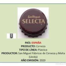 Collectionnisme de bières: TAPON CORONA CHAPA BOTTLE CAP KRONKORKEN TAPPI CAPSULE - CERVEZA SAN MIGUEL SELECTA (ESPAÑA). Lote 241170620