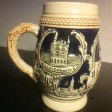 Coleccionismo de cervezas: JARRA CERÁMICA DE CERVEZA LUXEMBURGO. Lote 241804795