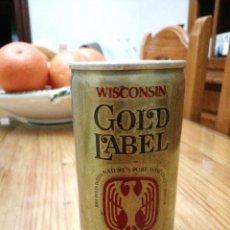 Coleccionismo de cervezas: LATA CERVEZA ESTADOS UNIDOS DE AMÉRICA BEER GOLD LABEL WISCONSIN AGUILA. Lote 242181205
