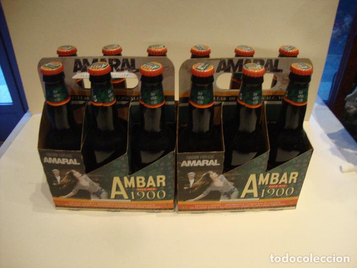 COLECCION COMPLETA CON SU PACK 12 BOTELLAS LLENAS EDICON LIMITADA AMARAL AMBAR LA ZARAGOZANA (Coleccionismo - Botellas y Bebidas - Cerveza )