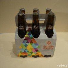 Coleccionismo de cervezas: COLECCION COMPLETA CON SU PACK 6 BOTELLAS LLENAS EDICION LIMITADA ESTRELLA NAVIDAD ESTRELLA GALICIA. Lote 242216965