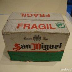 Coleccionismo de cervezas: ANTIGUA CAJA DE COPAS CERVEZA SAN MIGUEL COMPLETA. Lote 242217780
