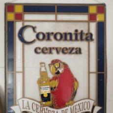 Coleccionismo de cervezas: VIDRIERA EMPLOMADA CERVEZA CORONITA. MÉXICO. AÑOS 80. Lote 242322105
