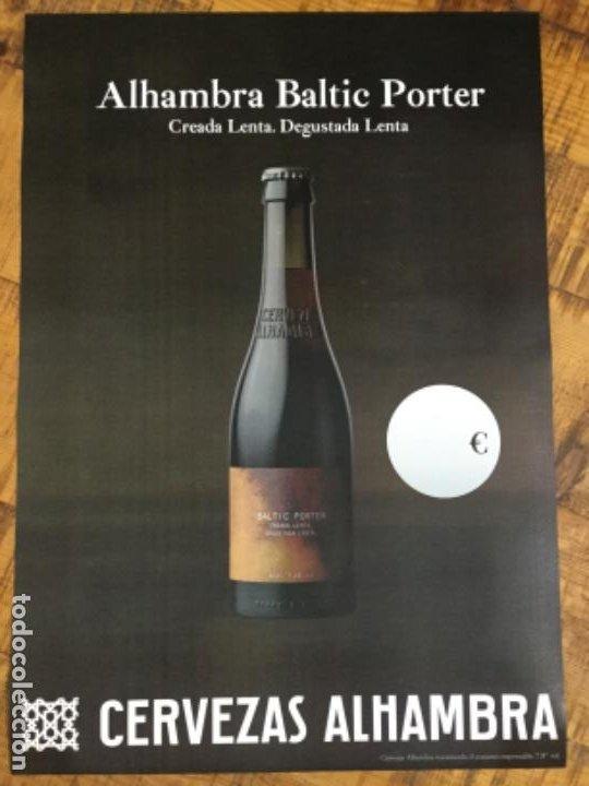 ALHAMBRA BALTIC PORTER - CÁRTEL PÓSTER DE PAPEL - CERVEZA GRANADA (Coleccionismo - Botellas y Bebidas - Cerveza )