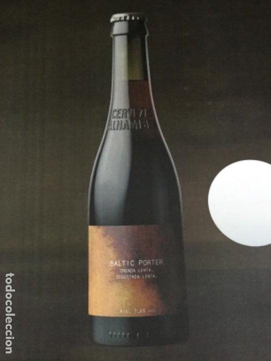 Coleccionismo de cervezas: ALHAMBRA BALTIC PORTER - CÁRTEL PÓSTER DE PAPEL - CERVEZA GRANADA - Foto 2 - 242997990