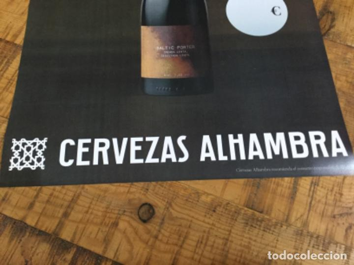 Coleccionismo de cervezas: ALHAMBRA BALTIC PORTER - CÁRTEL PÓSTER DE PAPEL - CERVEZA GRANADA - Foto 4 - 242997990