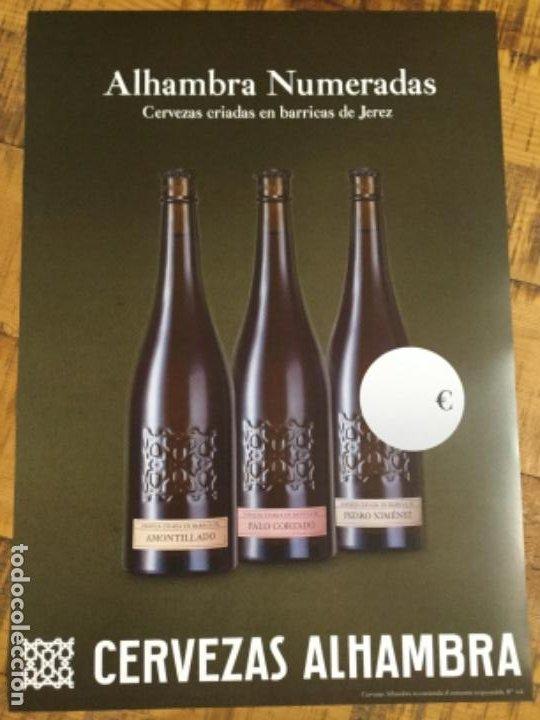 ALHAMBRA NUMERADAS - CÁRTEL PÓSTER DE PAPEL - CERVEZA GRANADA (Coleccionismo - Botellas y Bebidas - Cerveza )