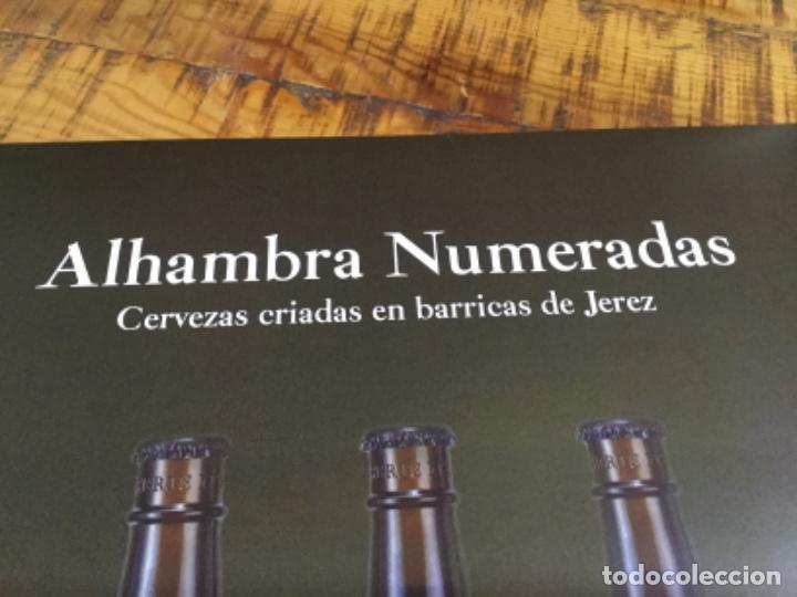 Coleccionismo de cervezas: ALHAMBRA NUMERADAS - CÁRTEL PÓSTER DE PAPEL - CERVEZA GRANADA - Foto 3 - 243000245