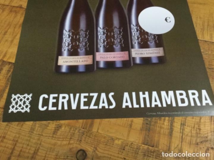 Coleccionismo de cervezas: ALHAMBRA NUMERADAS - CÁRTEL PÓSTER DE PAPEL - CERVEZA GRANADA - Foto 4 - 243000245