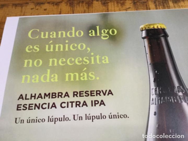 Coleccionismo de cervezas: ALHAMBRA RESERVA ESENCIA CITRA IPA - CÁRTEL PÓSTER DE PAPEL - CERVEZA GRANADA - Foto 2 - 243002955