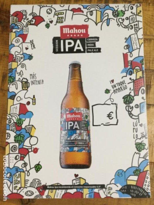 MAHOU IPA - CÁRTEL PÓSTER DE PAPEL - CERVEZA DE MADRID (Coleccionismo - Botellas y Bebidas - Cerveza )