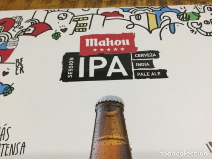 Coleccionismo de cervezas: MAHOU IPA - CÁRTEL PÓSTER DE PAPEL - CERVEZA DE MADRID - Foto 2 - 243072825