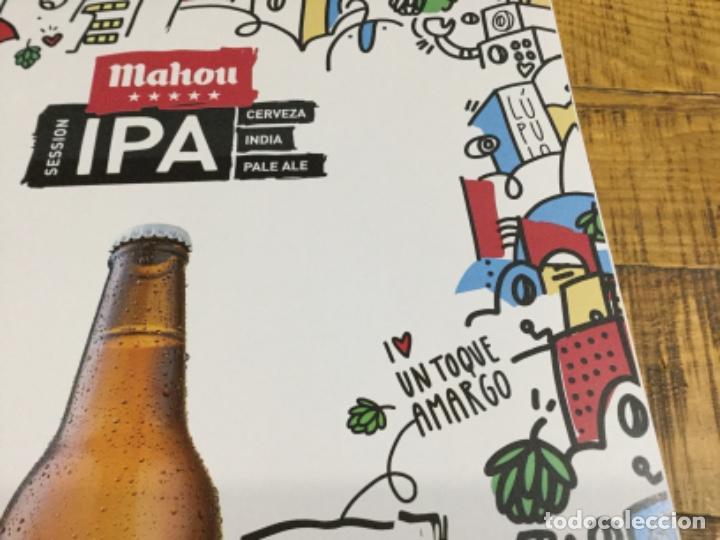 Coleccionismo de cervezas: MAHOU IPA - CÁRTEL PÓSTER DE PAPEL - CERVEZA DE MADRID - Foto 4 - 243072825